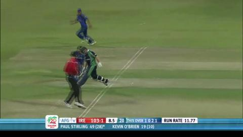 Ireland's Paul Stirling, Star Performer, v Afghanistan, ICC WT20Q 2013 Final