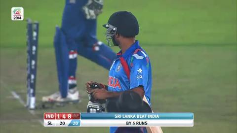 Warm-up: IND v SL - Amit Mishra wicket