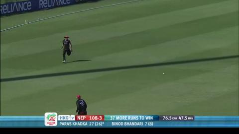 Paras Khadka, Man of the Match, Nepal v Hong Kong, ICC WT20Q 2013