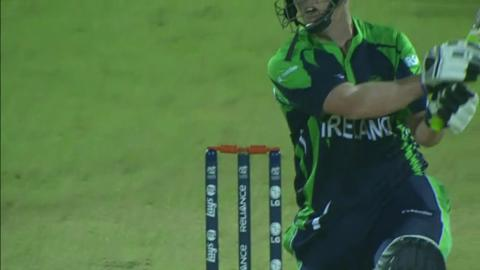 M3: ZIM v IRE - Kevin O' Brien wicket
