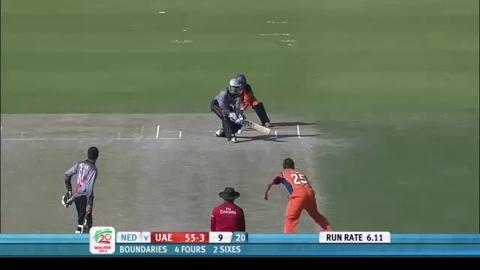 UAE innings v Netherlands, ICC WT20Q 2013