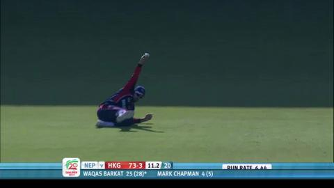 Hong Kong v Nepal, ICC WT20 Qualifier 2013: 1st innings highlights