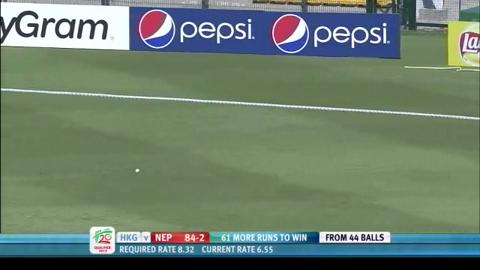Nepal innings highlights v Hong Kong, ICC WT20 Qualifier 2013