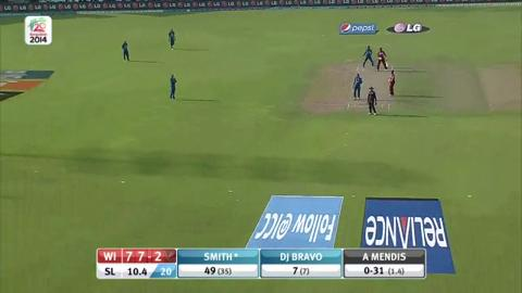 Warm-up: SL v WI - West Indies Innings Short Highlights