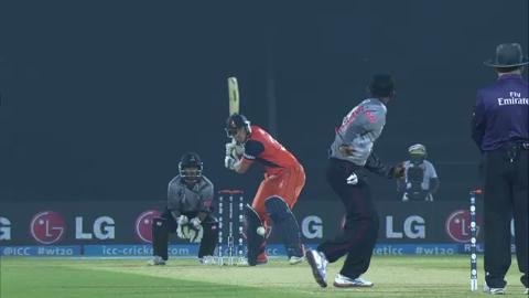M4: UAE v NED - William Barresi wicket
