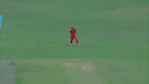 M29: Eng v Ned - Eoin Morgan Wicket