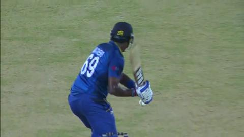 M30: SL v NZ - Angelo Mathews Wicket