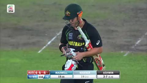 M28: Ind v Aus - David Warner Wicket