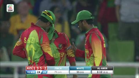 M31: Aus v Ban - Aaron Finch Wicket