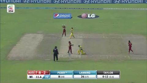 SF1: Australia women v West Indies women - Wickets Aus Innings