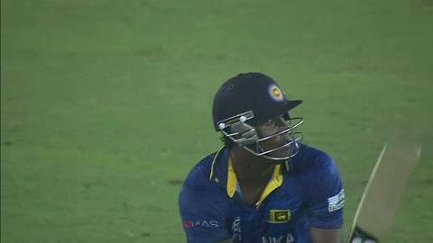 SF1: Sri Lanka v West Indies - Angelo Mathews Wicket