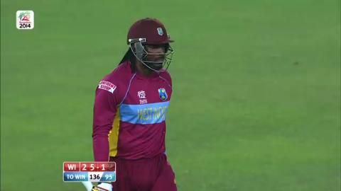 SF1: Sri Lanka v West Indies - Chris Gayle Wicket