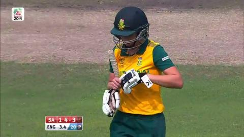 SF2: England Women v South Africa women-Yolandi van der Westhuizen Wicket
