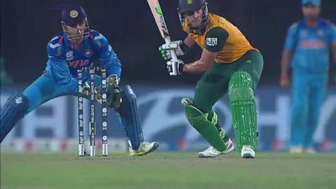 SF2: South Africa v India - Faf du Plessis Wicket