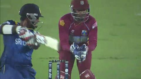 SF1: Sri Lanka v West Indies - Lahiru Thirimanne Wicket