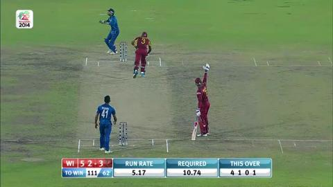 SF1: Sri Lanka v West indies - Dwayne Bravo Innings