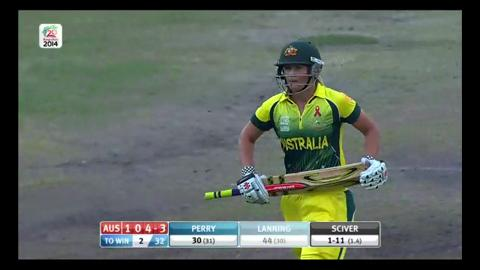 Final: Australia Women v England Women - Meg Lanning Wicket