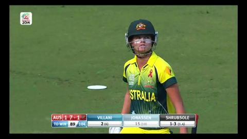 Final: Australia Women v England Women - Jess Jonassen Wicket