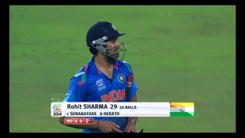 Final: Ind v SL - Rohit Sharma Wicket