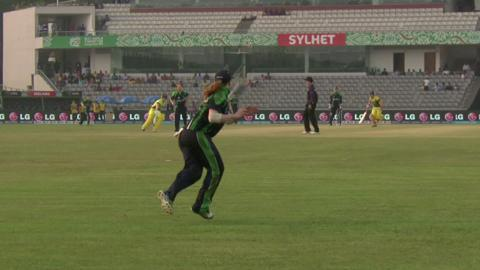 Women's World Twenty20 M9: Australia v Ireland highlights