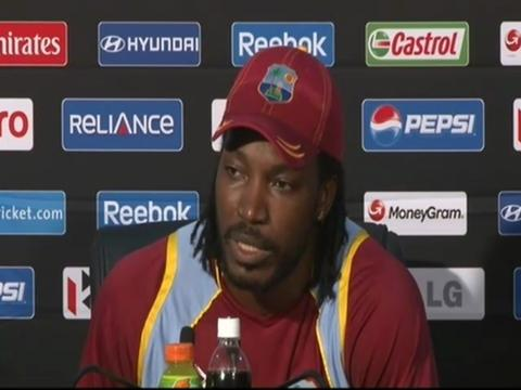 Chris Gayle press conference