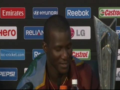 Darren Sammy happy