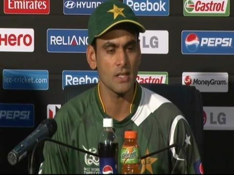 Mohammad Hafeez dejected