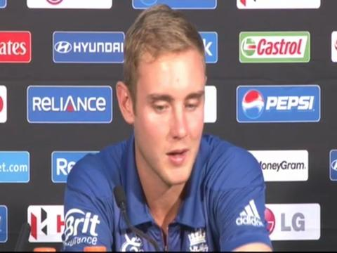 Stuart Broad on the win