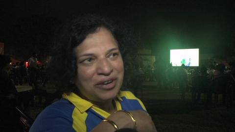 Fans watch in Colombo
