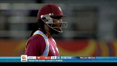 Group B - Australia v West Indies - West Indies innings