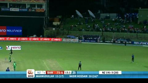 Group D - New Zealand v Bangladesh, Bangladesh innings