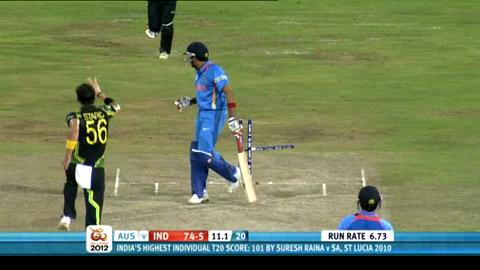 Super Eights - India v Australia - India innings