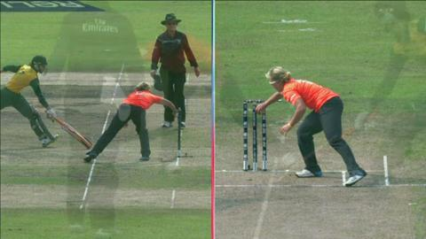 SF2: England Women v South Africa women-Marizanne Kapp Wicket