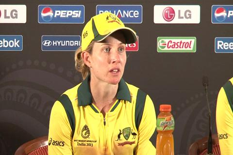 Jodie Fields on batting effort