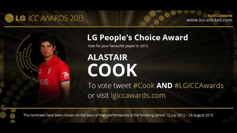 Alastair Cook - LG ICC Awards 2013