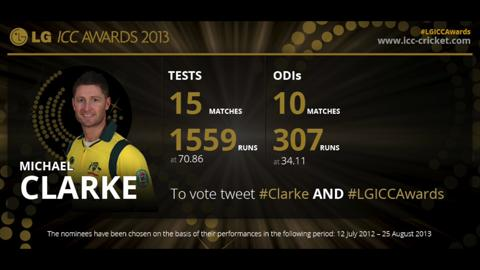 Michael Clarke - LG ICC Awards 2013