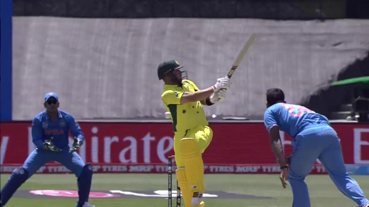 AUS vs IND – Stuart Binny quick delivery to Aaron Finch