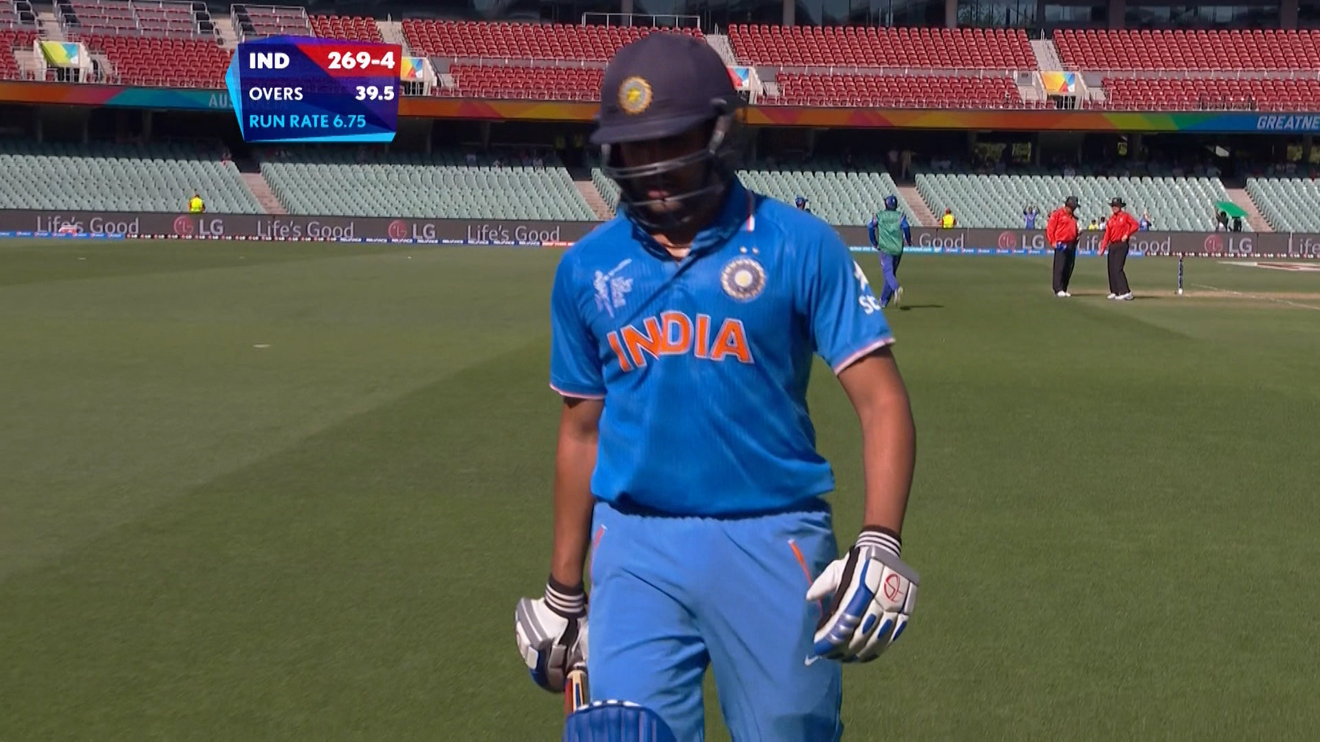 IND vs AFG –  rohit sharma wicket