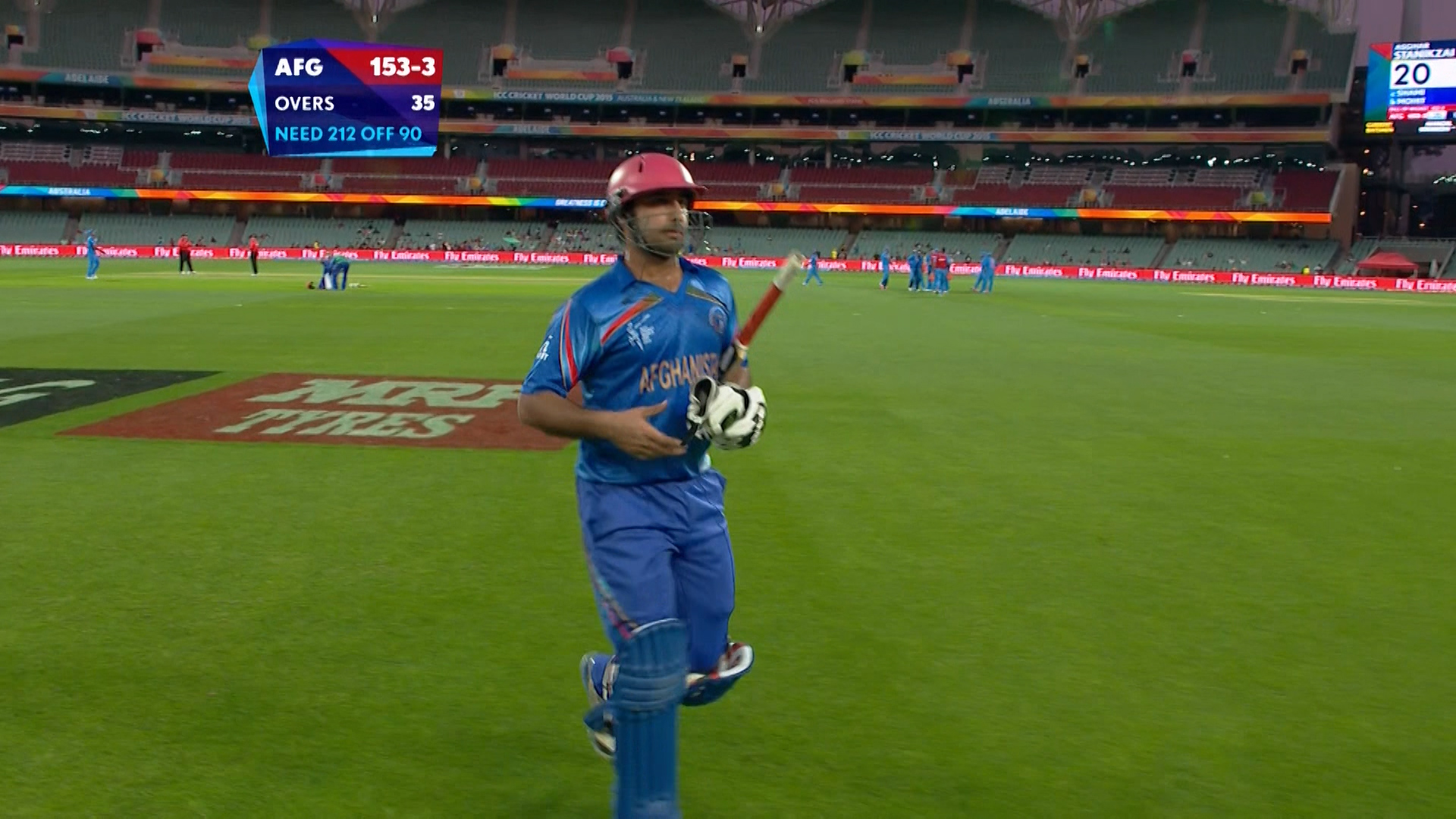IND vs AFG – stanikzai wicket