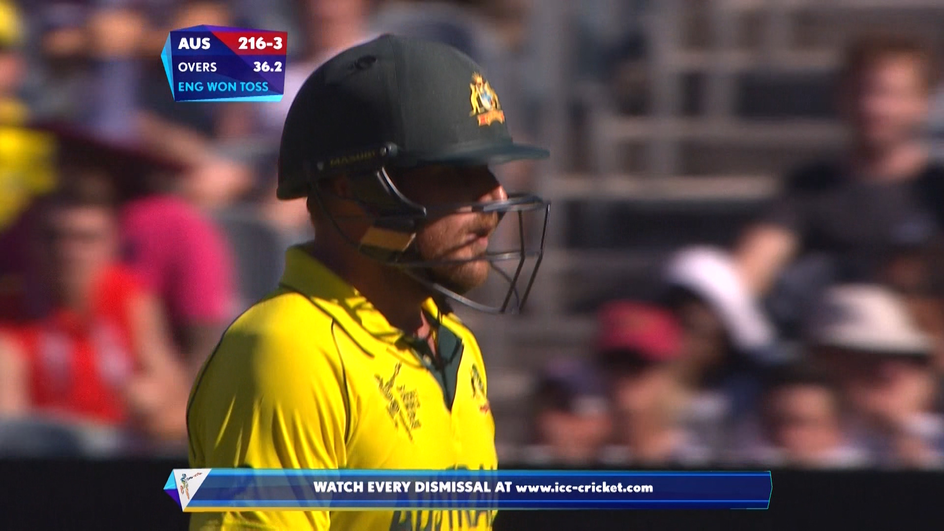 Aaron Finch wicket – ENG vs AUS