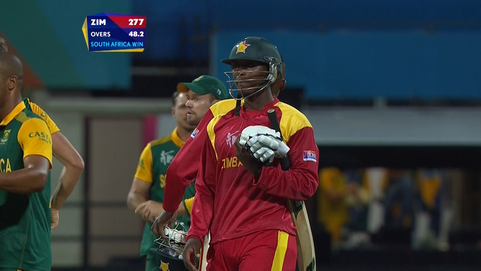 Chatara wicket – SA vs ZIM