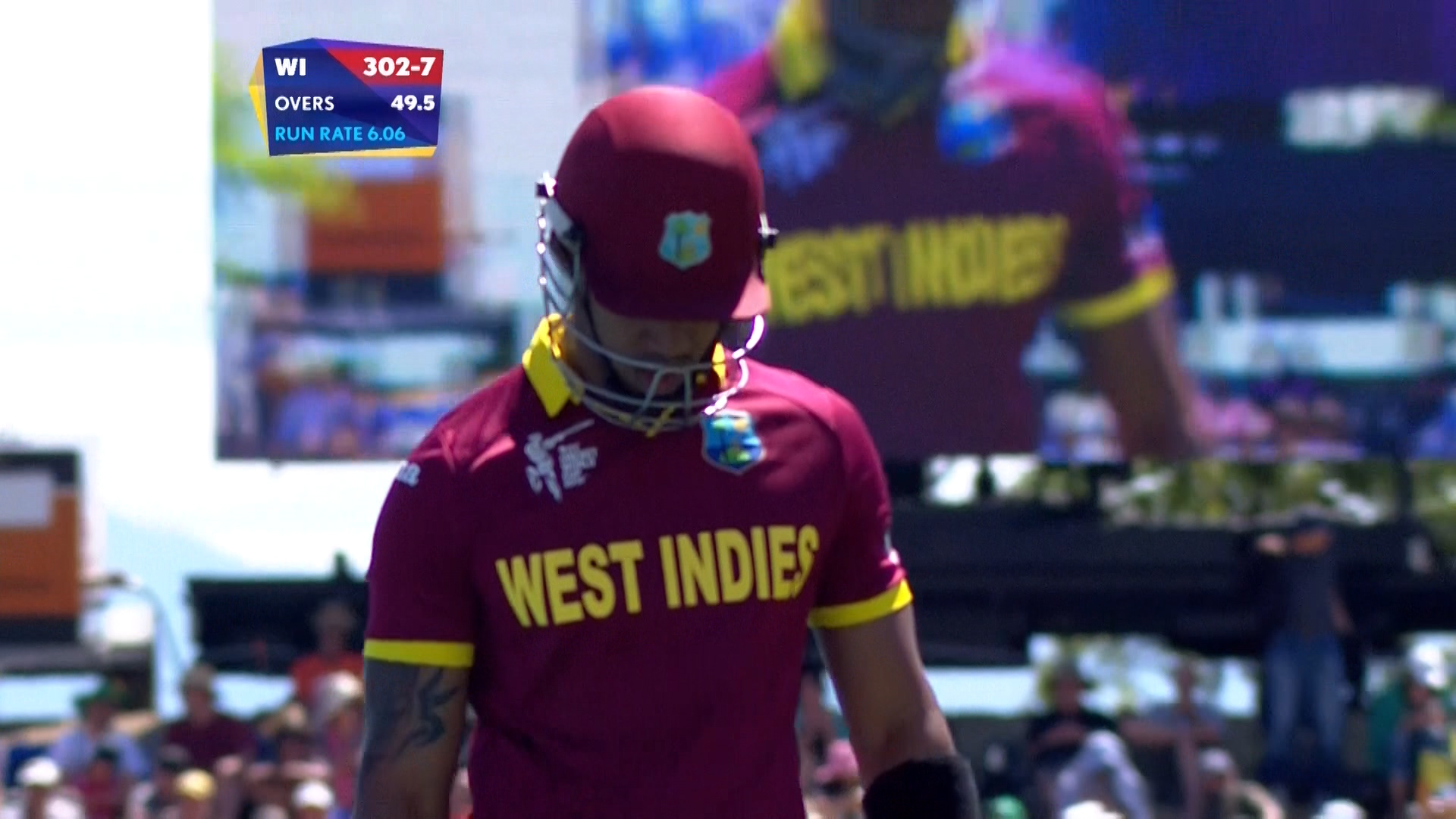 Simmons wicket – IRE vs WI