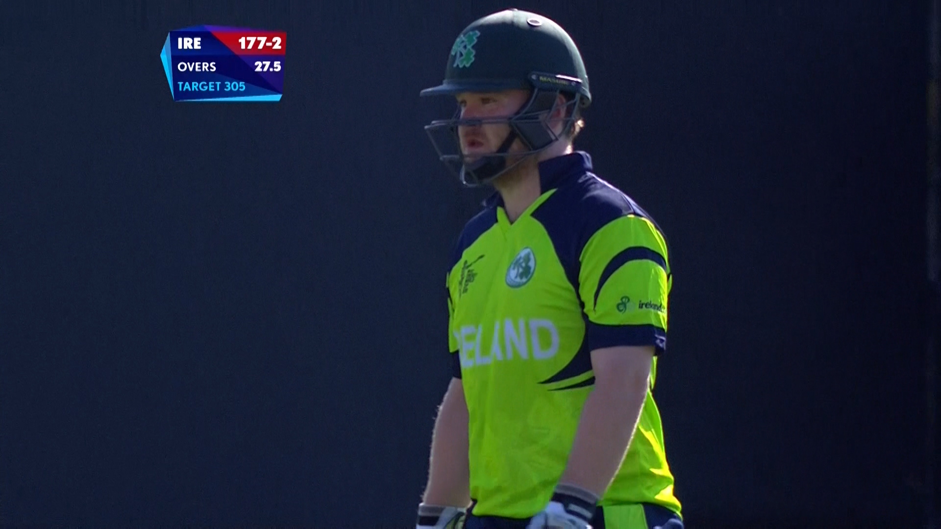 Stirling wicket – IRE vs WI