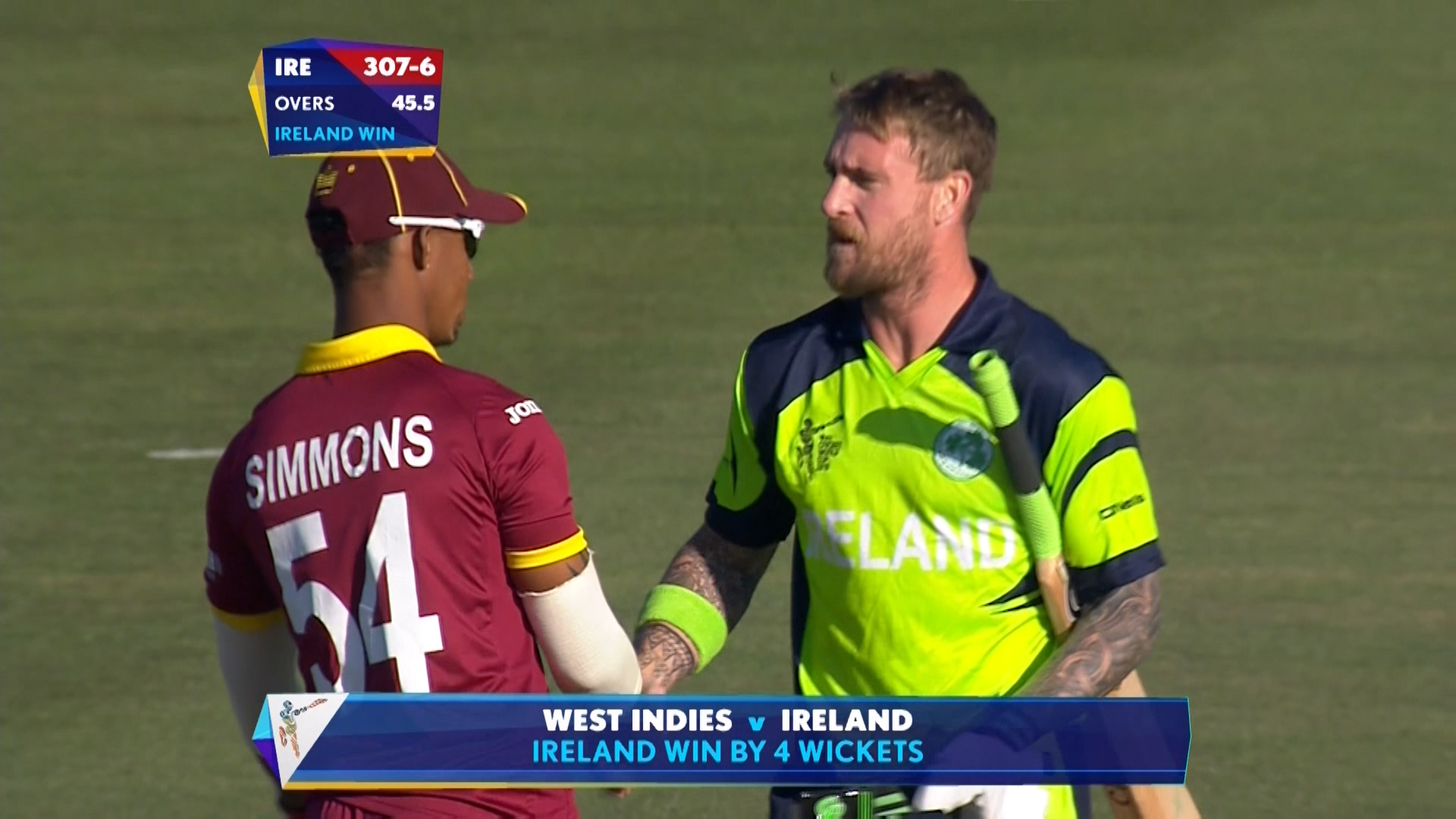 Match highlights – IRE vs WI