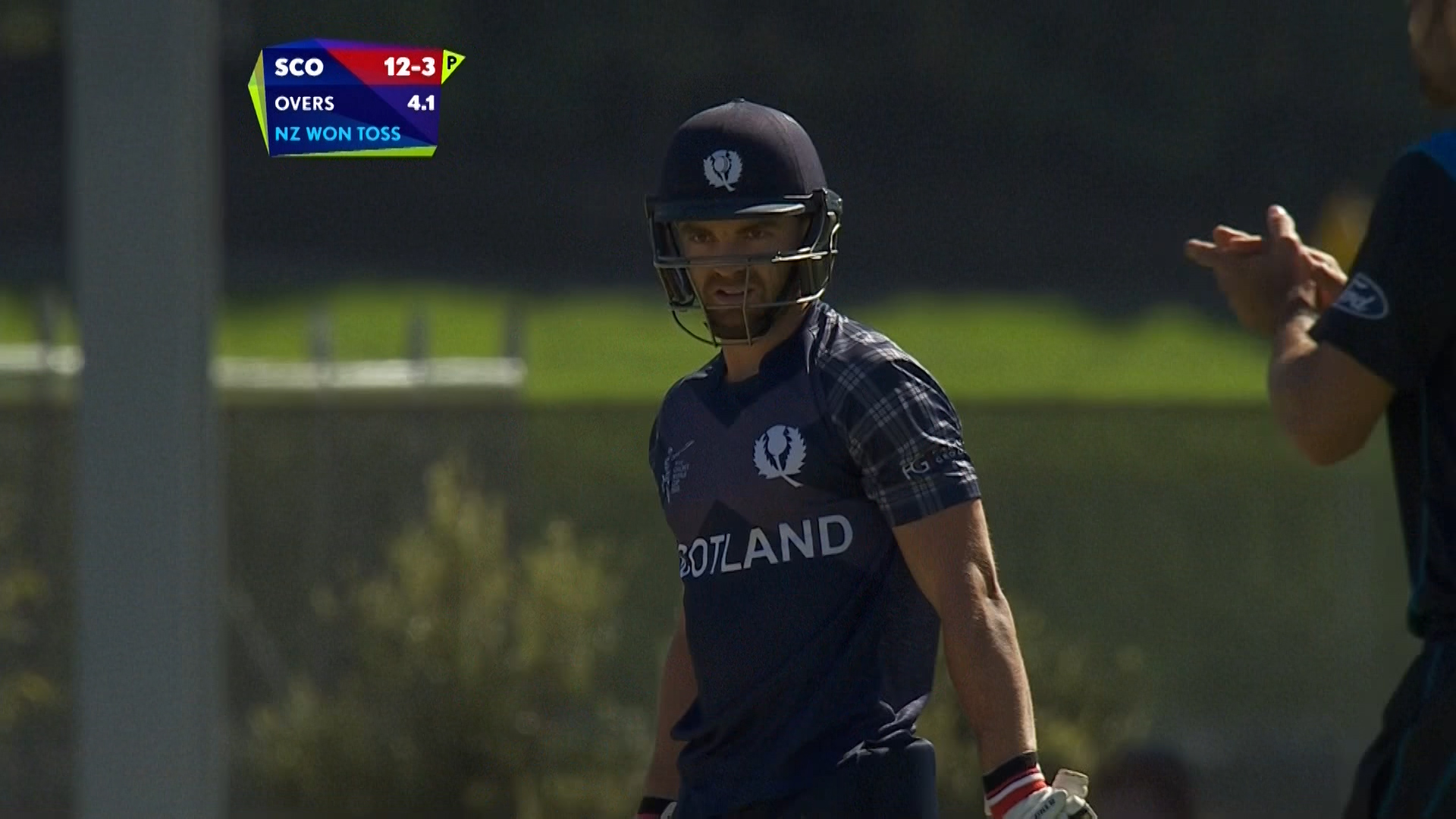 Preston Mommsen wicket – NZ vs SCO