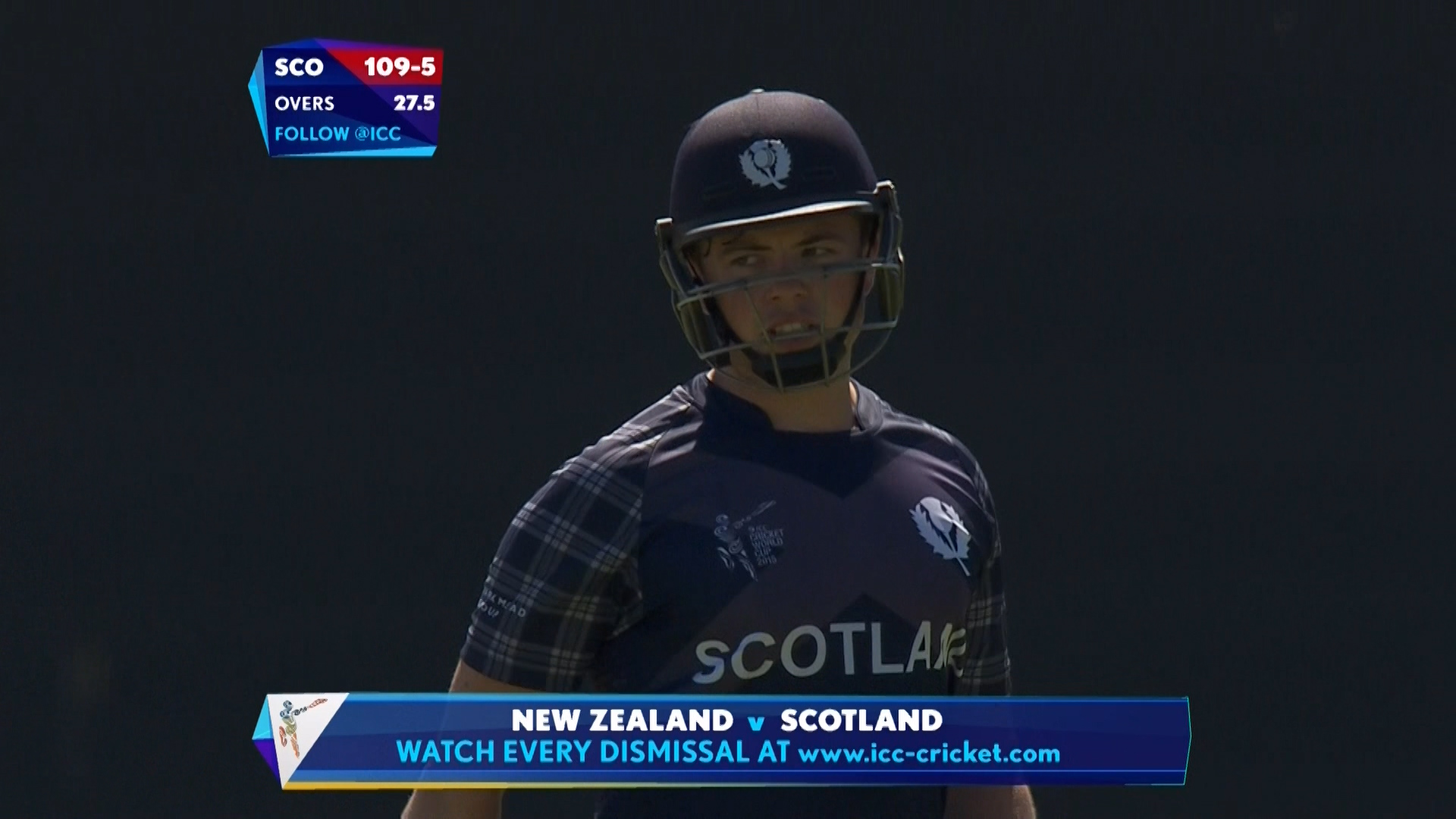 Matt Machan wicket – NZ vs SCO