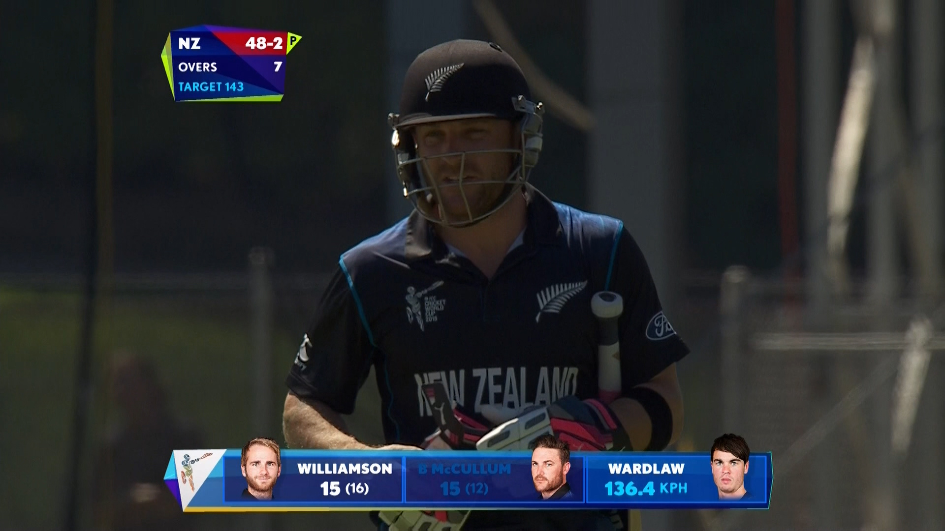 Brendon McCullum wicket – NZ vs SCO