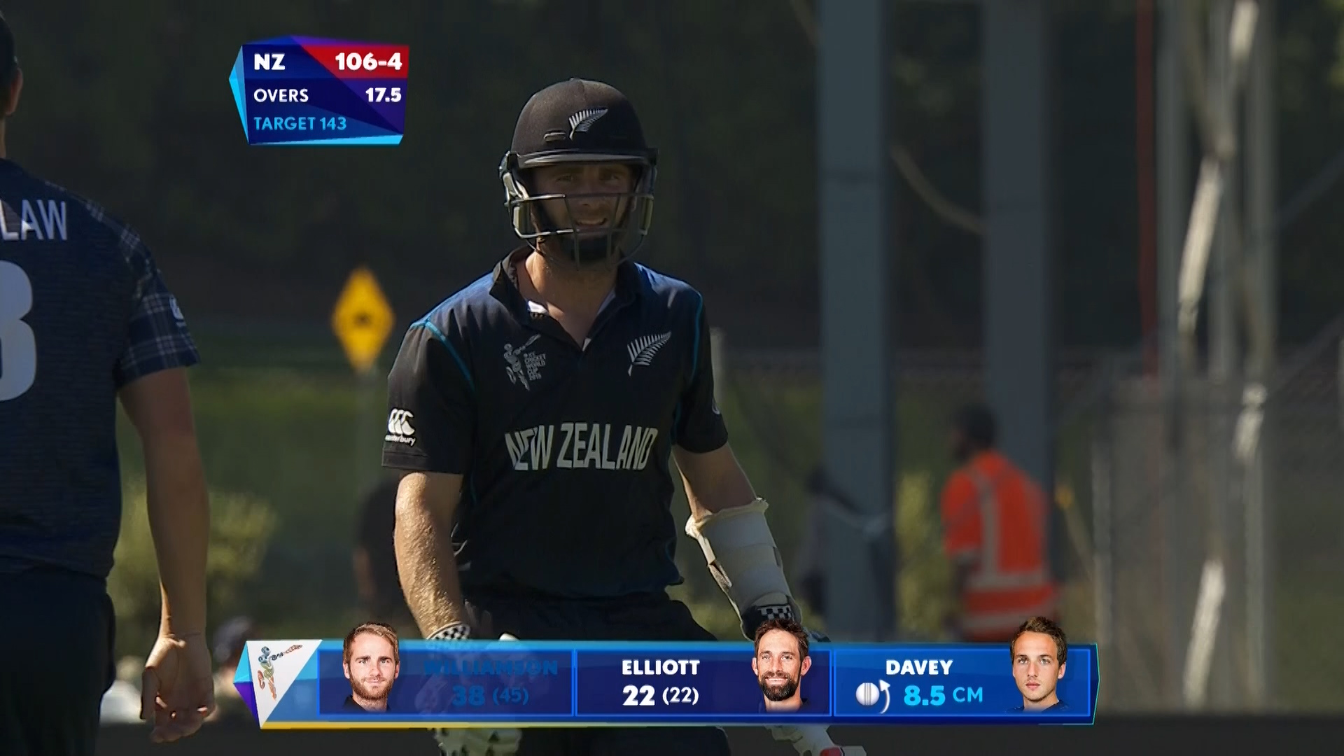 Kane Williamson wicket – NZ vs SCO