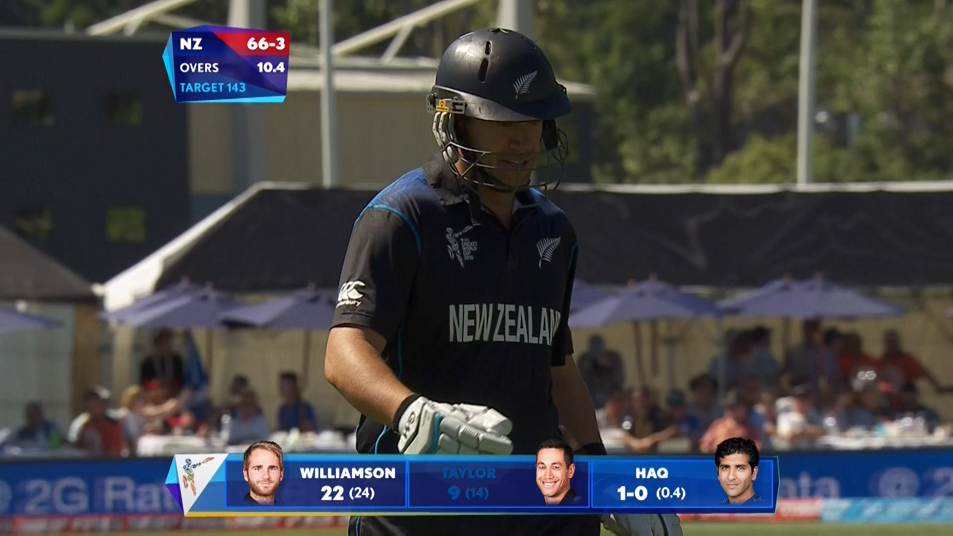 Ross Taylor wicket – NZ vs SCO