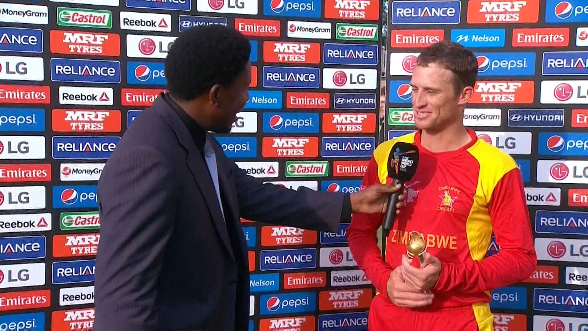 Player of the Match – Williams – ZIM vs UAE